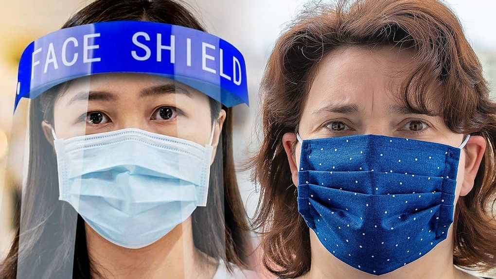 Can I use face shield instead of a mask?