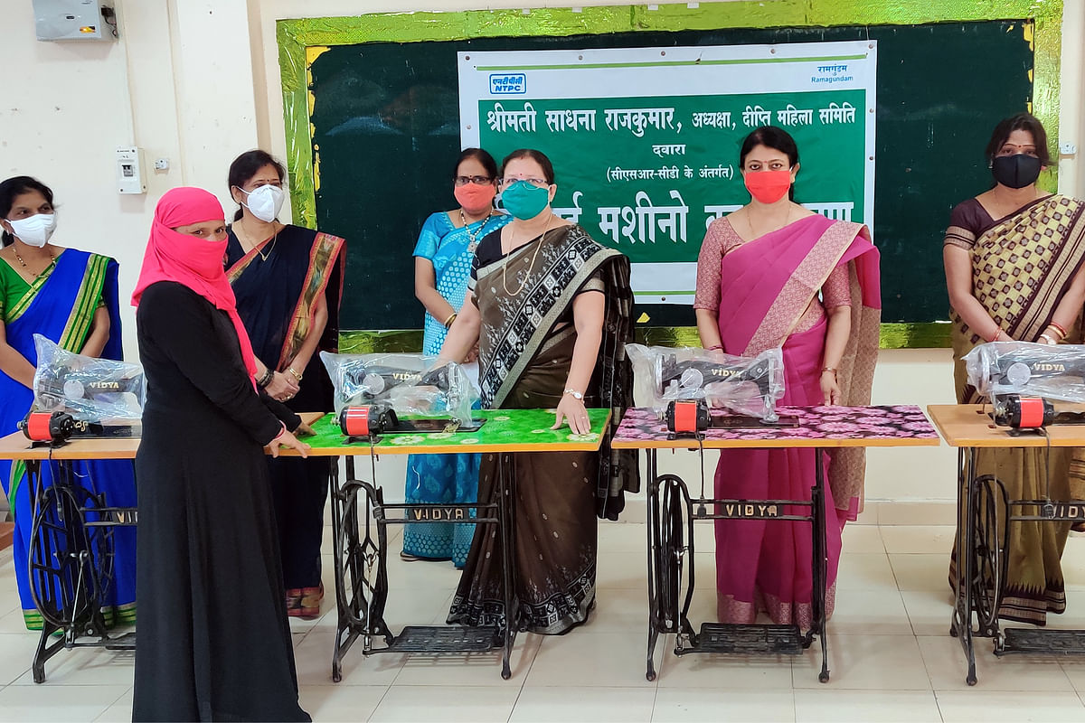 NTPC's Deepthi Mahila Samithi distributes sewing machines under Corporate Social Responsibility