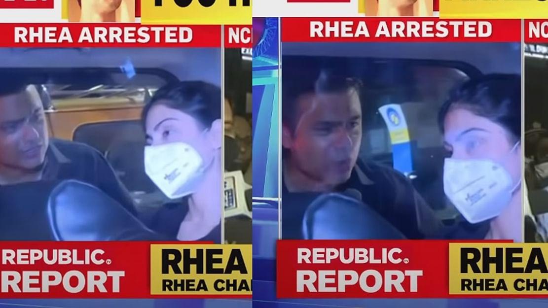 'Madam byte de do nahi toh seth maarega': Video of Republic TV reporter hounding Rhea post-arrest gets a hilarious twist