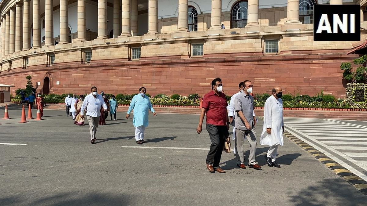 Parliament monsoon session updates: Opposition to boycott session till suspension revoked; MPs end protest