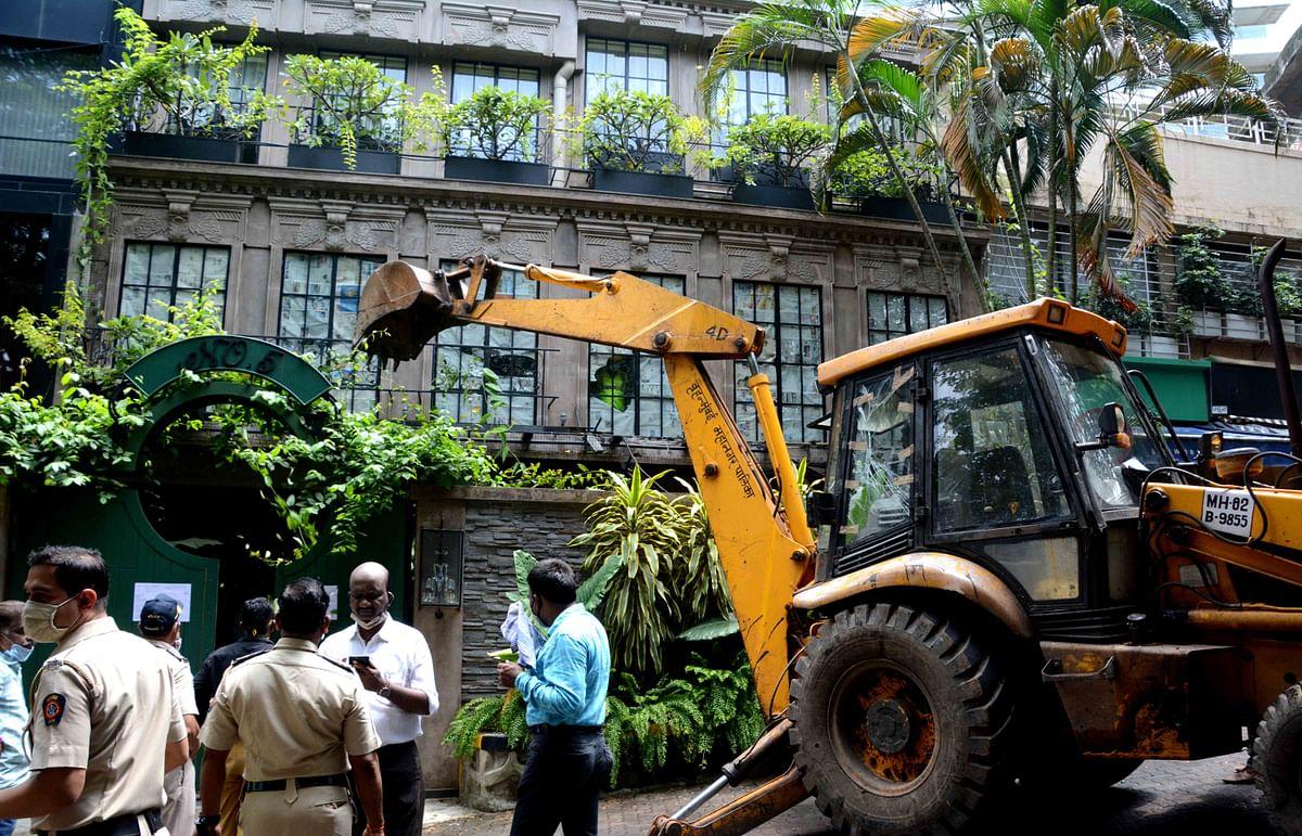 BMC demolished Kangana Ranaut office at Palihil, Bandra (file pic).