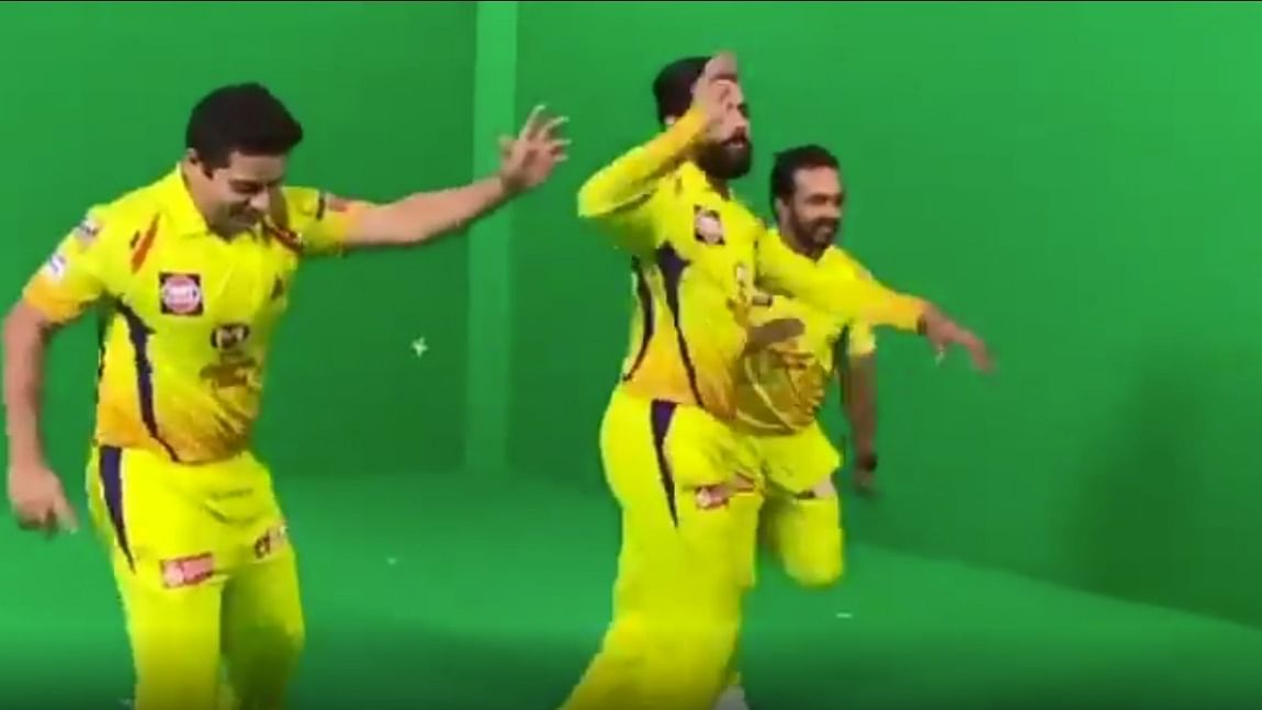 Watch: Chennai Super Kings teammates Ravindra Jadeja, Piyush Chawla and Kedar Jadhav's happy dance will get you in the IPL spirit