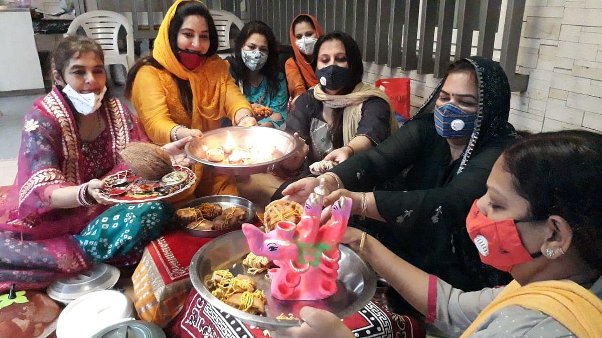 Indore: Hindu community women worship Gaja Laxmi; conclude sixteen-day Mahalakshmi Vrat