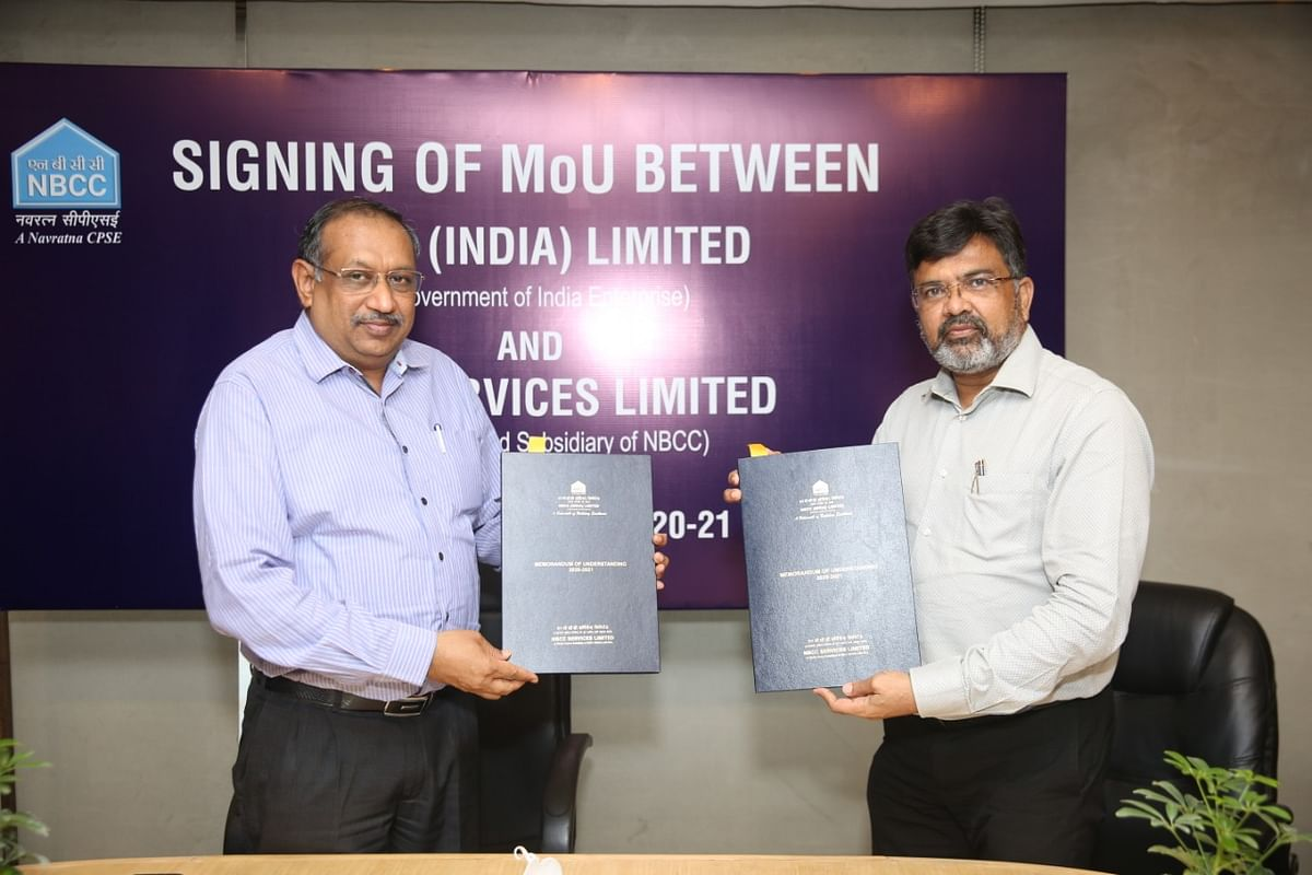 NBCC Services Ltd. signs MoU with NBCC (India) Ltd. for FY 2020-21