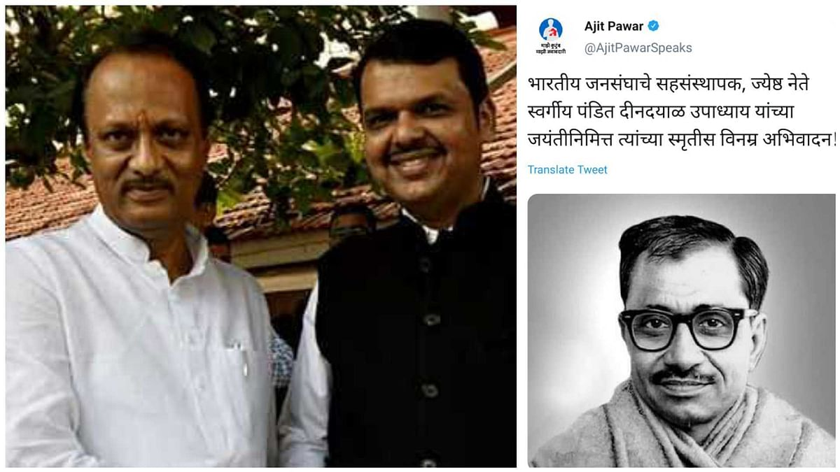 This is why Ajit Pawar deleted his tweet paying tribute to RSS thinker Deendayal Upadhyay