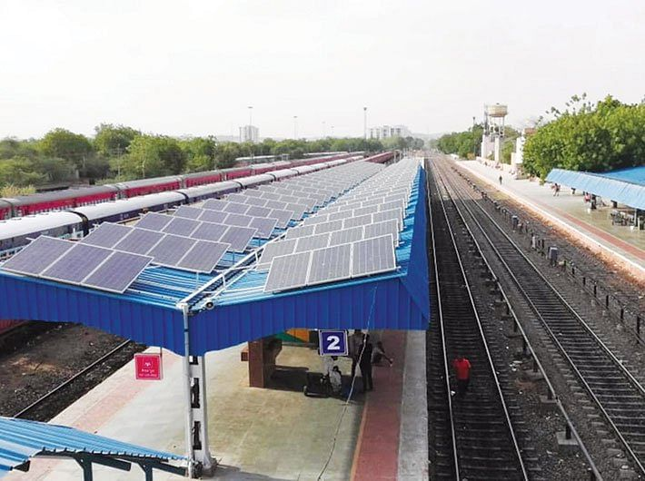 Western Railway installs rooftop solar panels at 75 stations