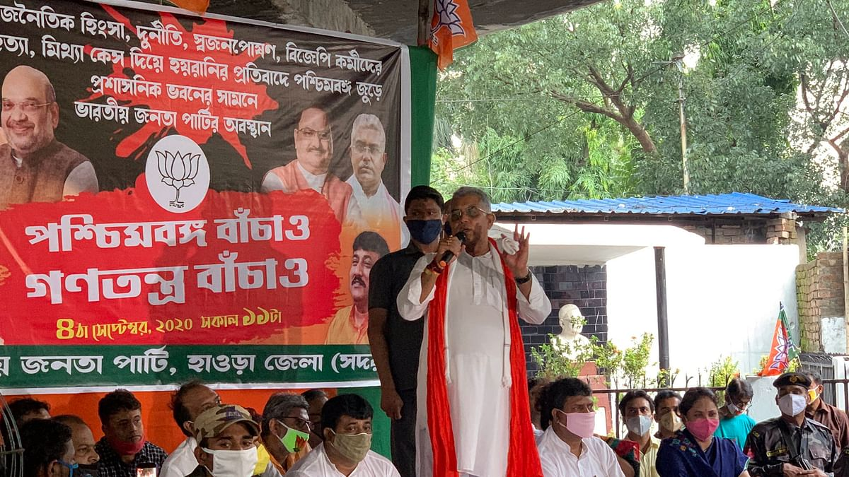 Bengal BJP chief says TMC workers to be beaten up with shoes, ruling party leader hits back
