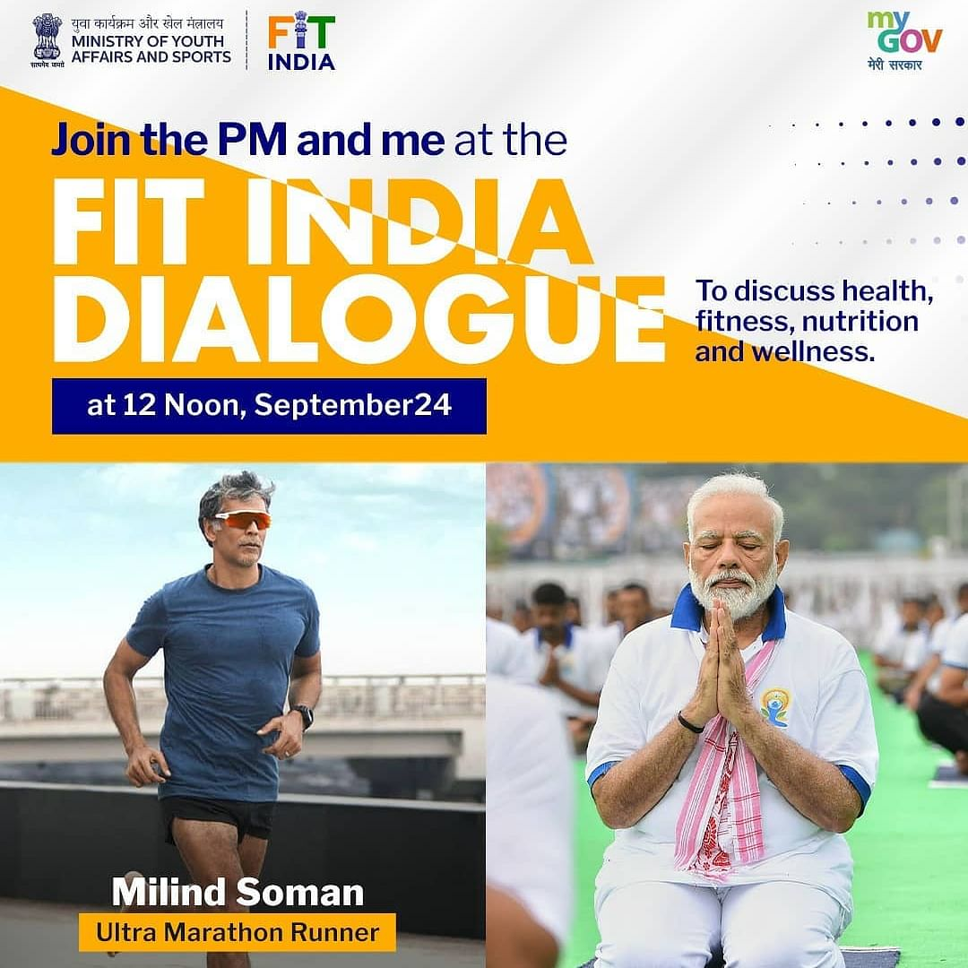 Fit India Dialogue: PM Modi to interact with Virat Kohli, Milind Soman and other fitness enthusiasts