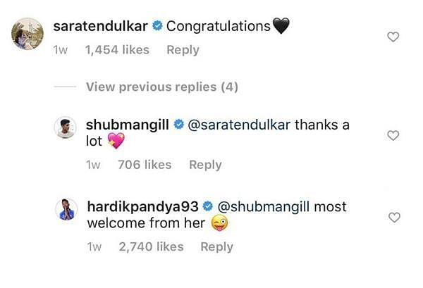 Sara Tendulkar dating KKR's Shubman Gill? Fans speculate budding romance over IG post