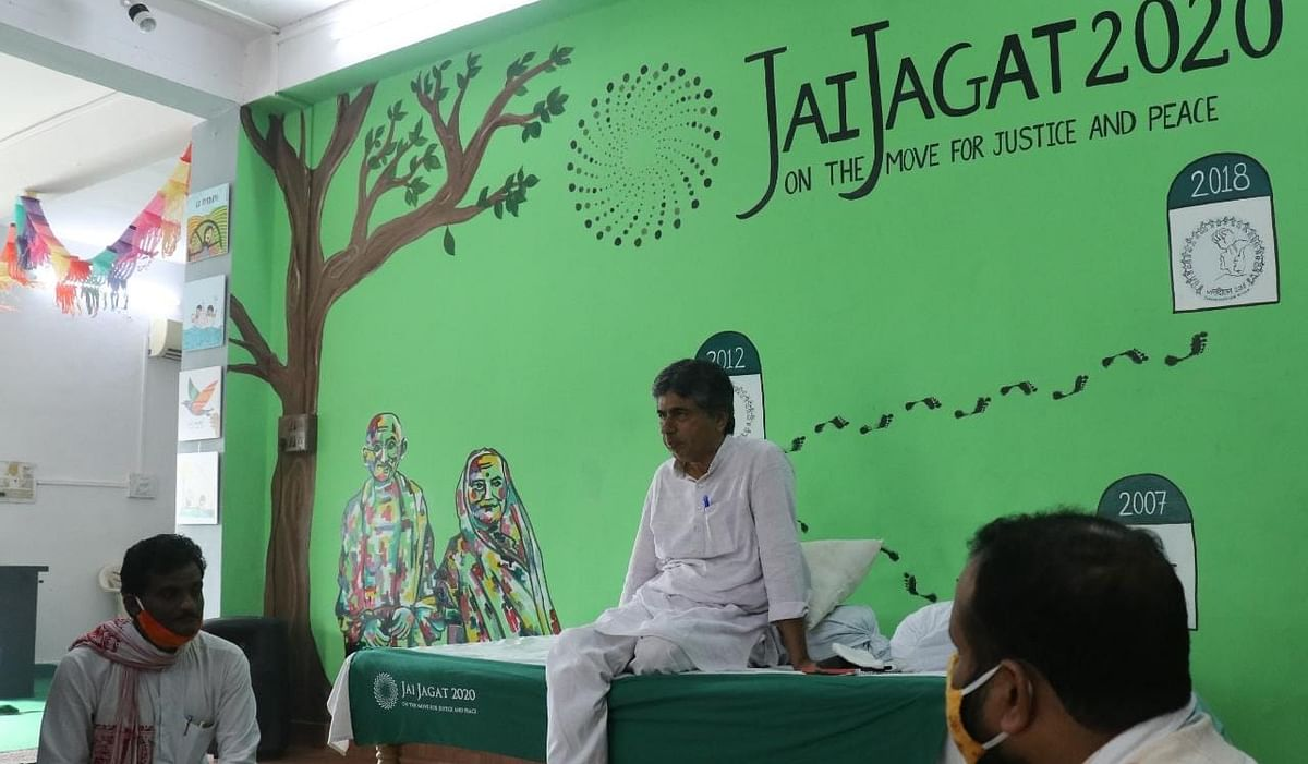 Gandhian and founder of Ekta Parishad PV Rajagopal
