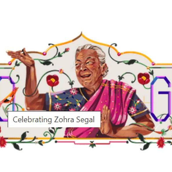 Did Google Doodle misspell Zohra Sehgal's name in tribute?