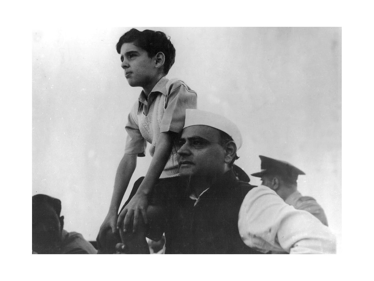 Feroze with younger son Sanjay.