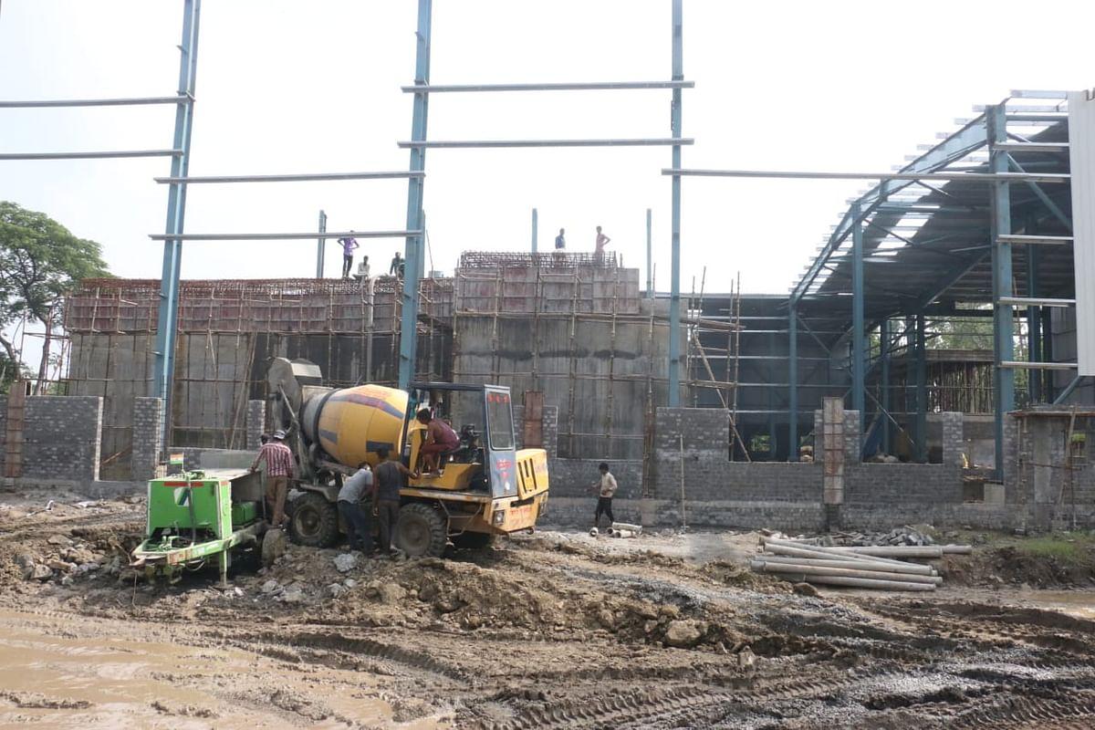 Construction of STP at Kabit Khedi