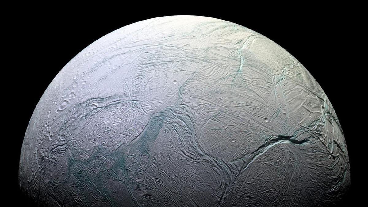 Hints of fresh ice in Enceladus's northern hemisphere
