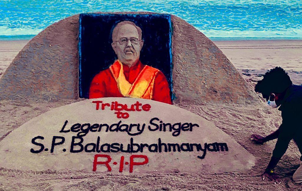 #RIPSPB: Sand artist Sudarsan Pattnaik pays tribute to late singer SP Balasubrahmanyam