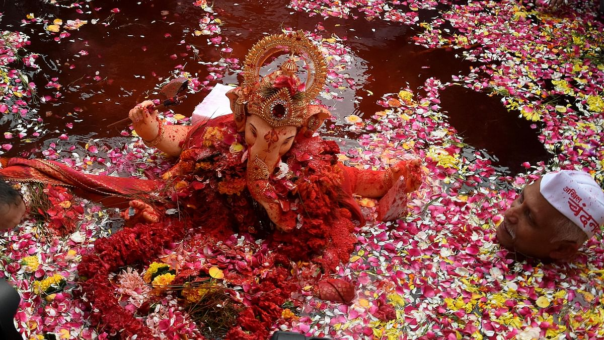 Mumbai bids farewell to Ganpati Bappa without fanfare this year