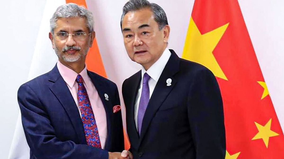 External Affairs Minister S Jaishankar with Chinese State Councilor and Foreign Minister Wang Yi.