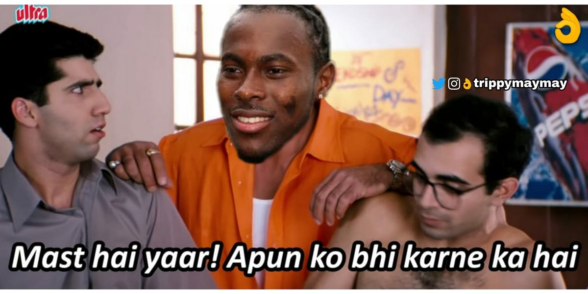 'Jofra ne utari bowler ki Lungi': Twitter in awe after Archer hits CSK bowler for four sixes