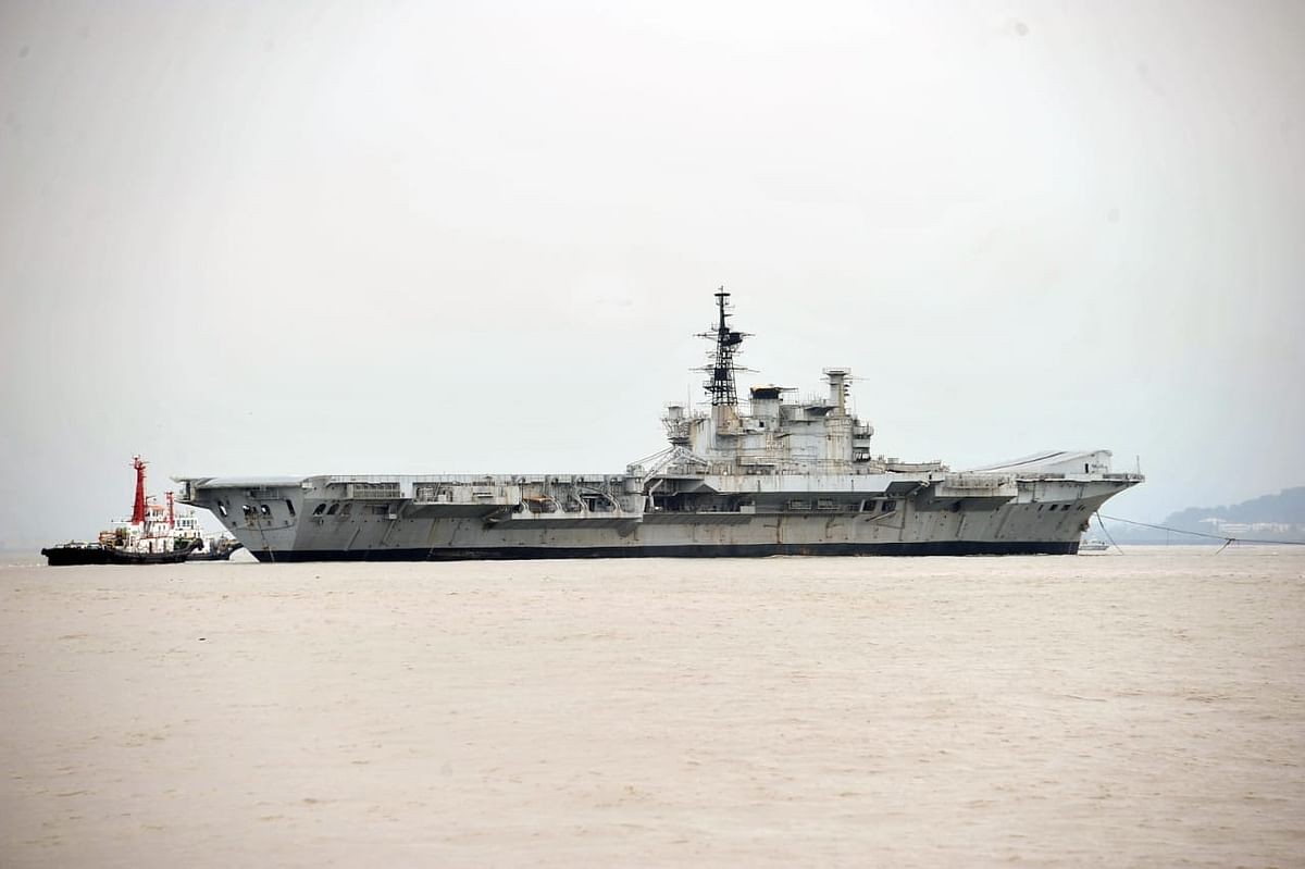 In Pictures: Decommissioned Navy aircraft carrier Viraat sets sail for the last time