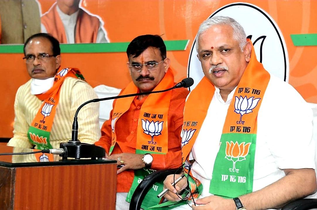 Bhopal: BJP senior leader BL Santosh holds by-polls meet; chalk out election plan