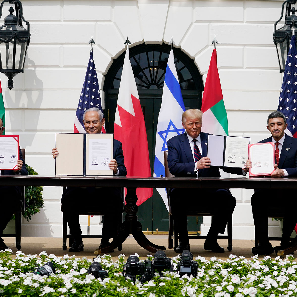 "Israel, UAE and Bahrain sign Abraham Accord; Donald Trump says ""dawn of new Middle East"""