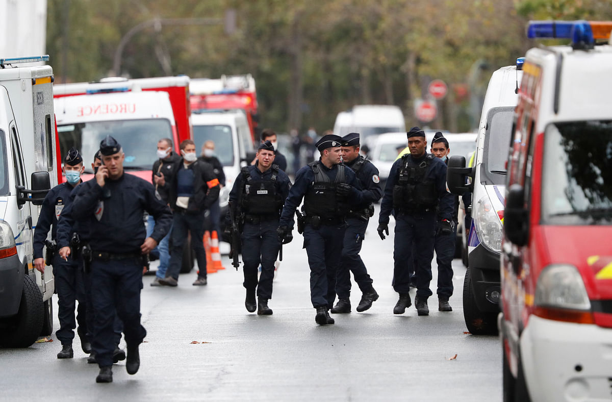 7 detained over stabbing near former offices of Charlie Hebdo