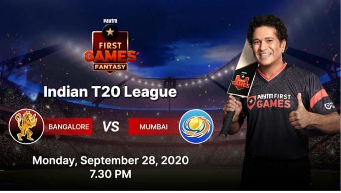 Bangalore vs Mumbai: Paytm First Games Fantasy Prediction: Indian T20 League