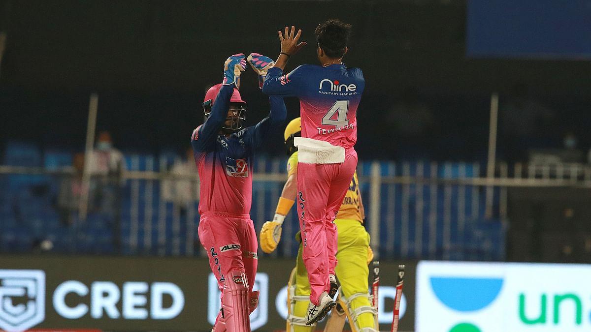 RR celebrate the victory of Kedar Jadhav