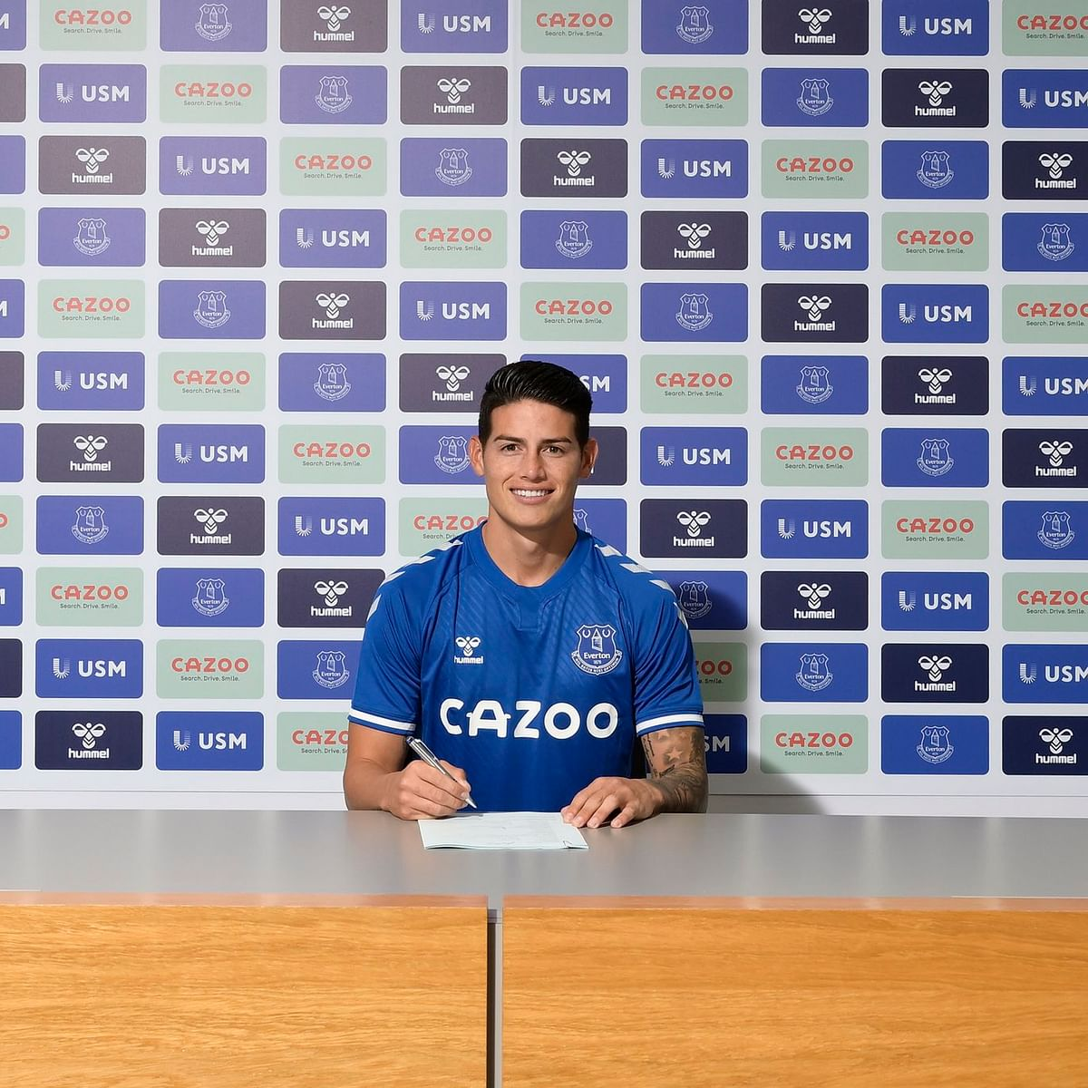 Everton sign Colombian star James Rodriguez on two-year deal