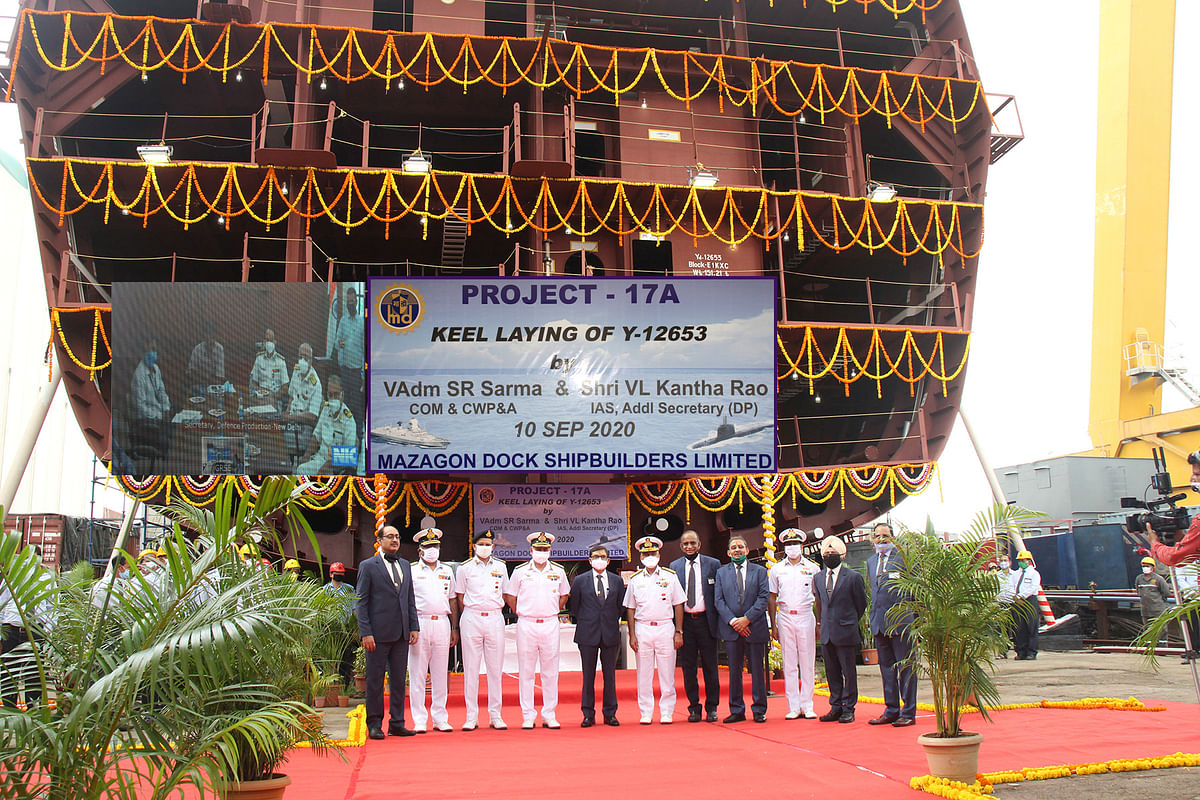 Keel laid for the third stealth frigate of Project 17A