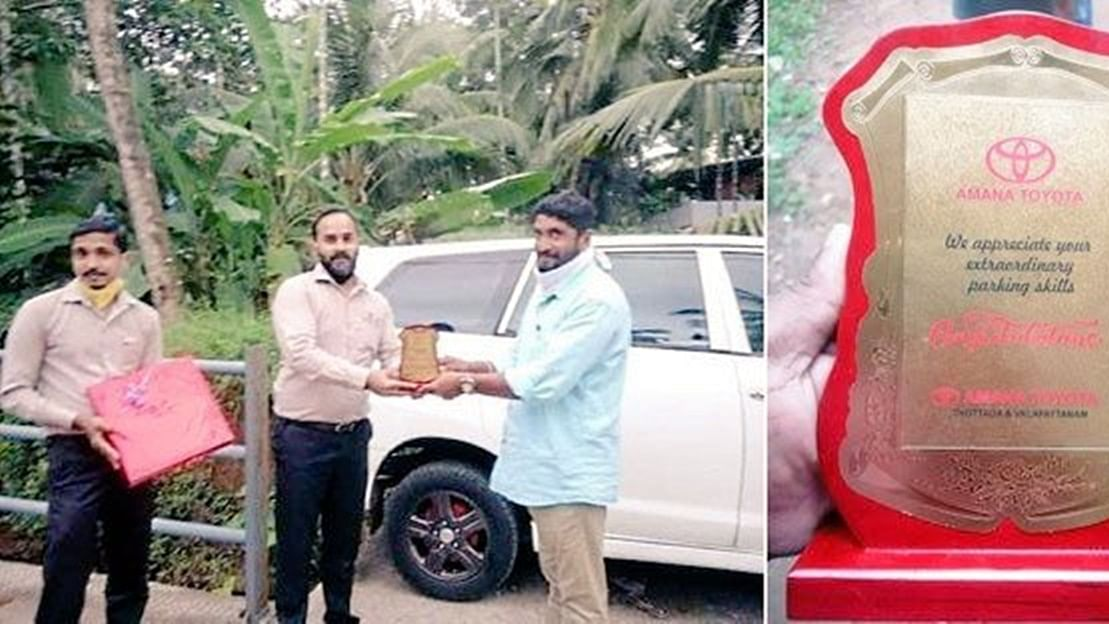 Remember that iconic parking video from Kerala? The driver gets an award!