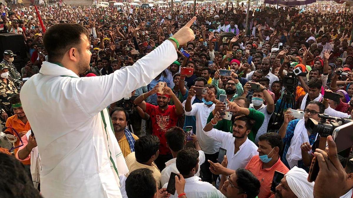 Rashtriya Janata Dal (RJD) leader and Mahagathbandhan's Chief Minister face Tejashwi Yadav