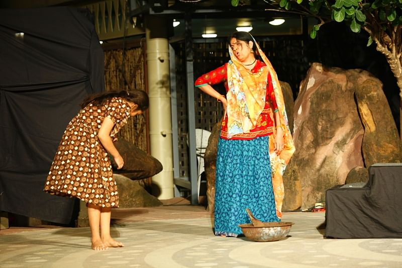 'Usha Ek Karmyogini', a story of a scavenger by Harish Verma staged at the Tribal Museum in Bhopal