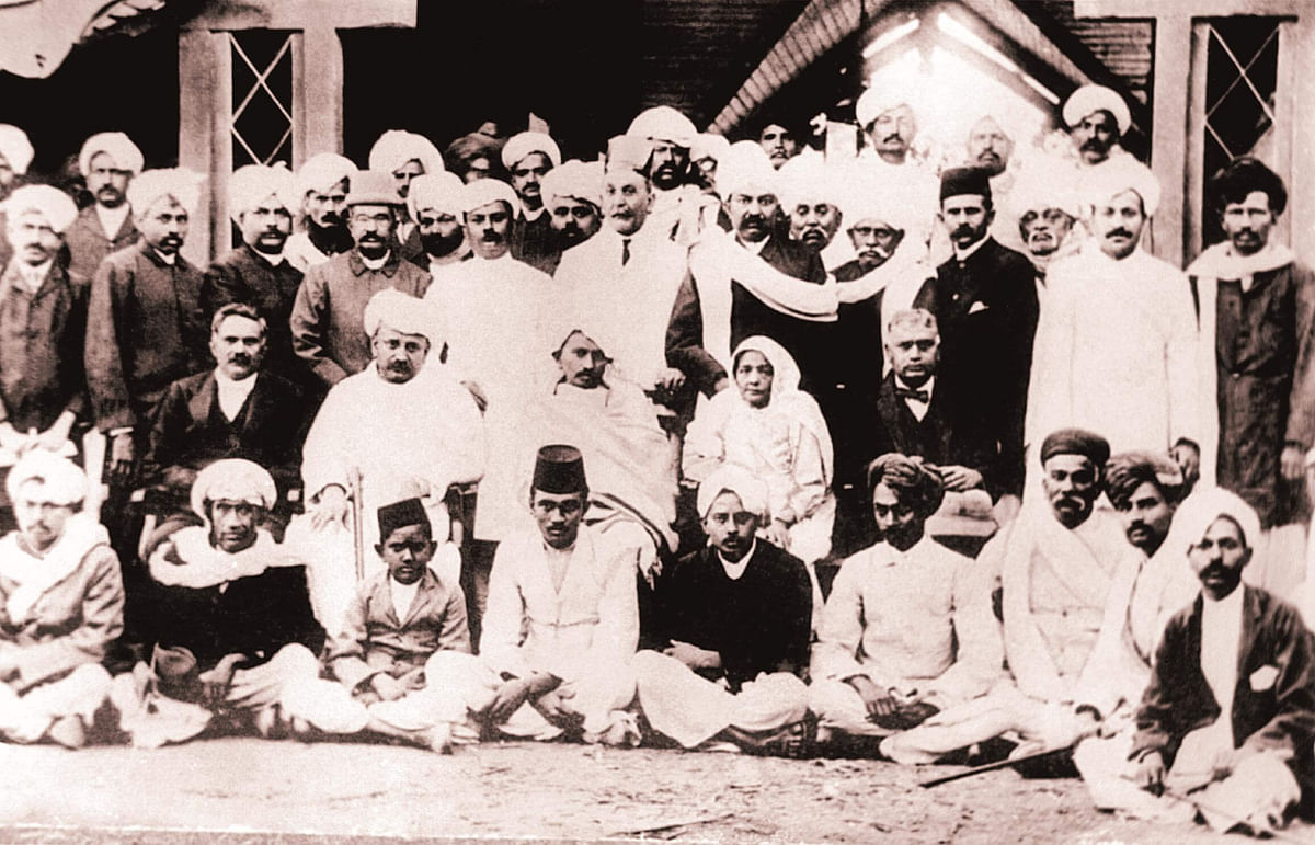 At a reception in Jetpur, Saurashtra in 1915