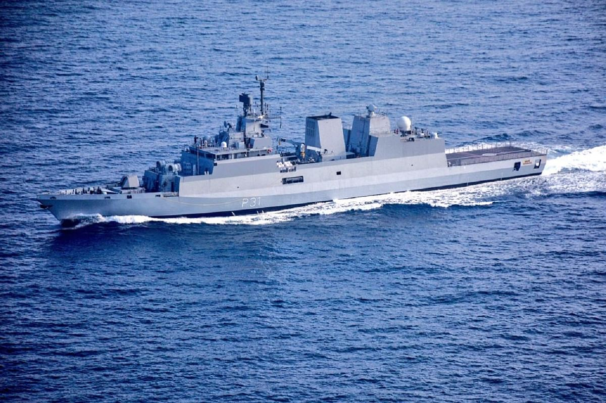 Indian Navy Missile Corvette INS Prabal launches anti-ship missile