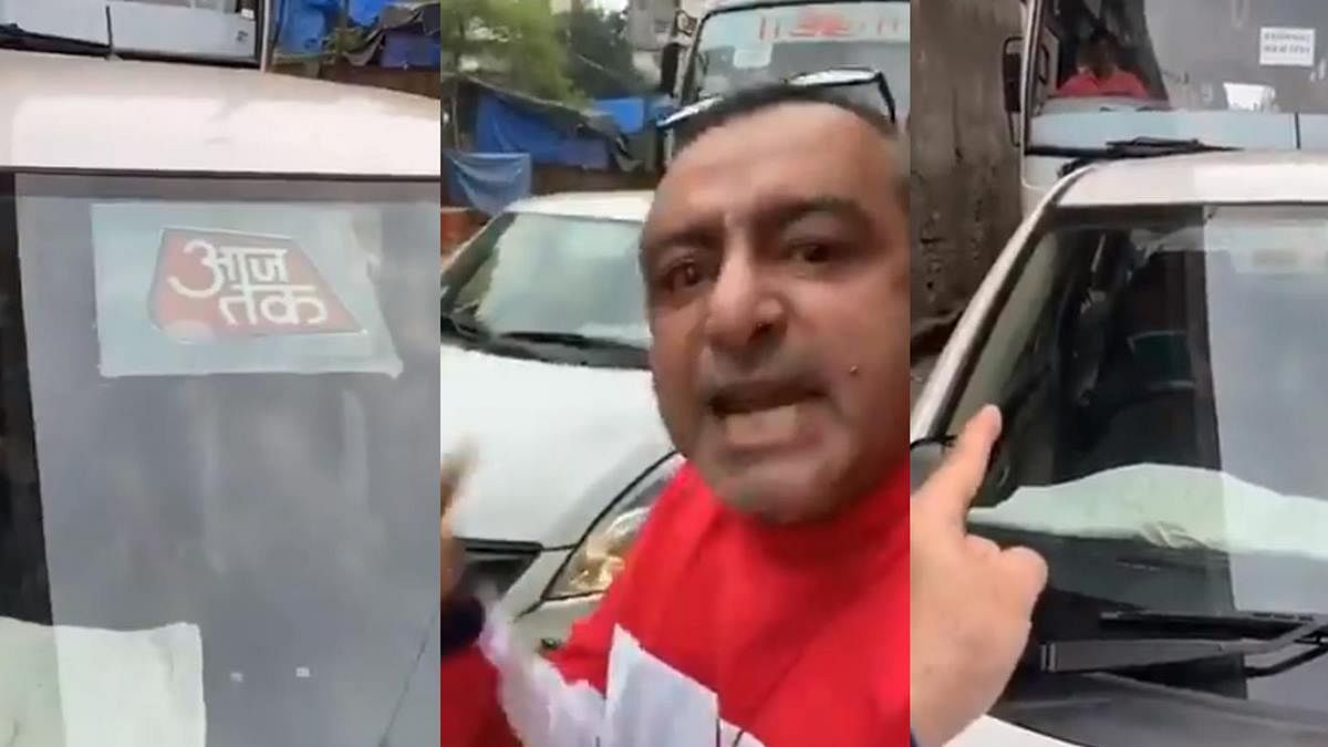 'TRP ke bhukhe': Man stops Aaj Tak car trying to overtake him; wants Rahul Kanwal to watch video
