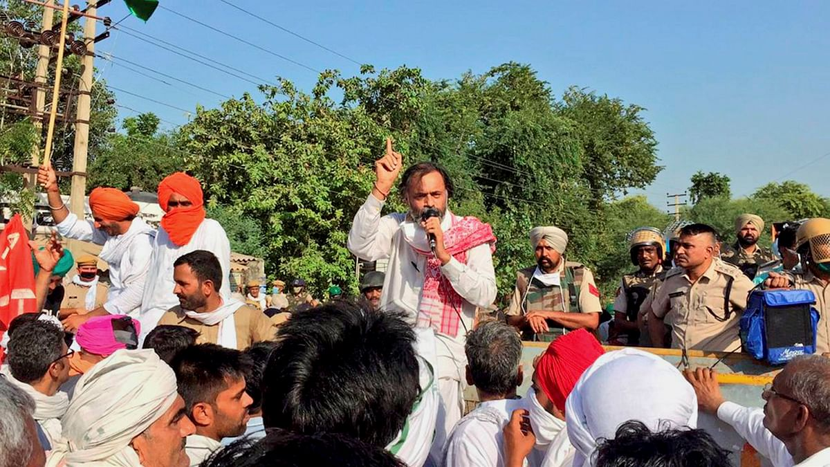 Yogendra Yadav, 100 farmers detained in Haryana's Sirsa after agitating against Centre's new farm laws