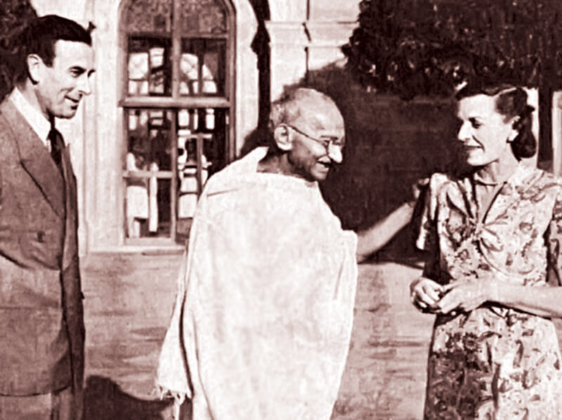 Gandhi with Lord and Lady Mountbatten