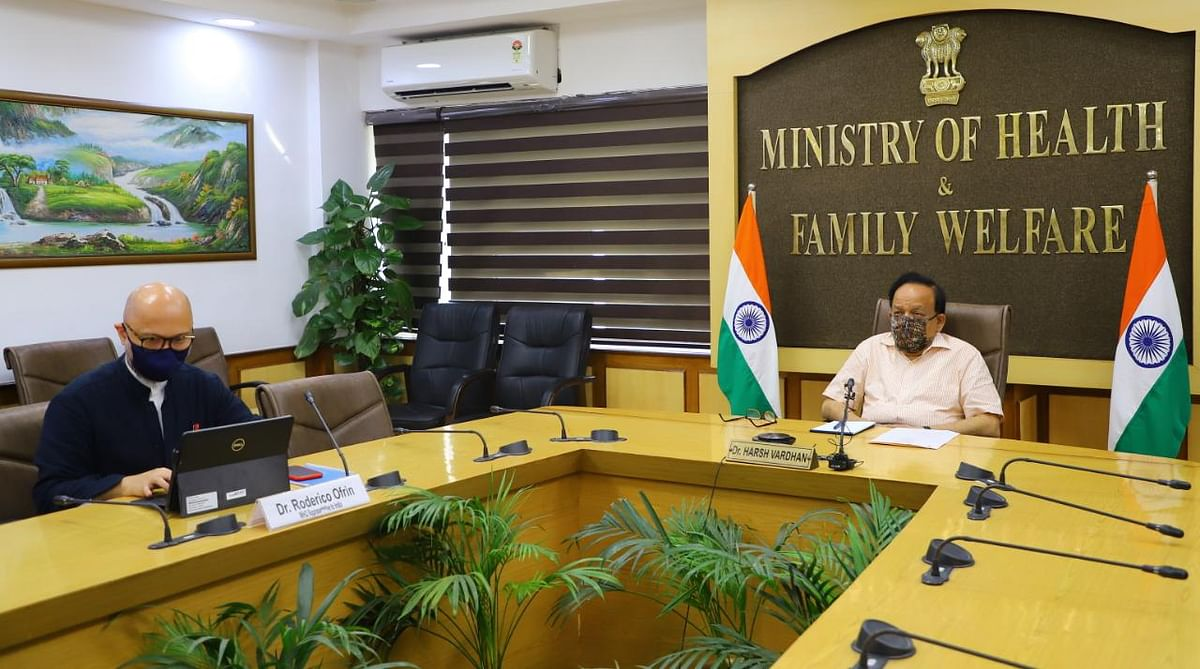 Union Health Minister Harsh Vardhan participates in WHO virtual information session on COVID-19