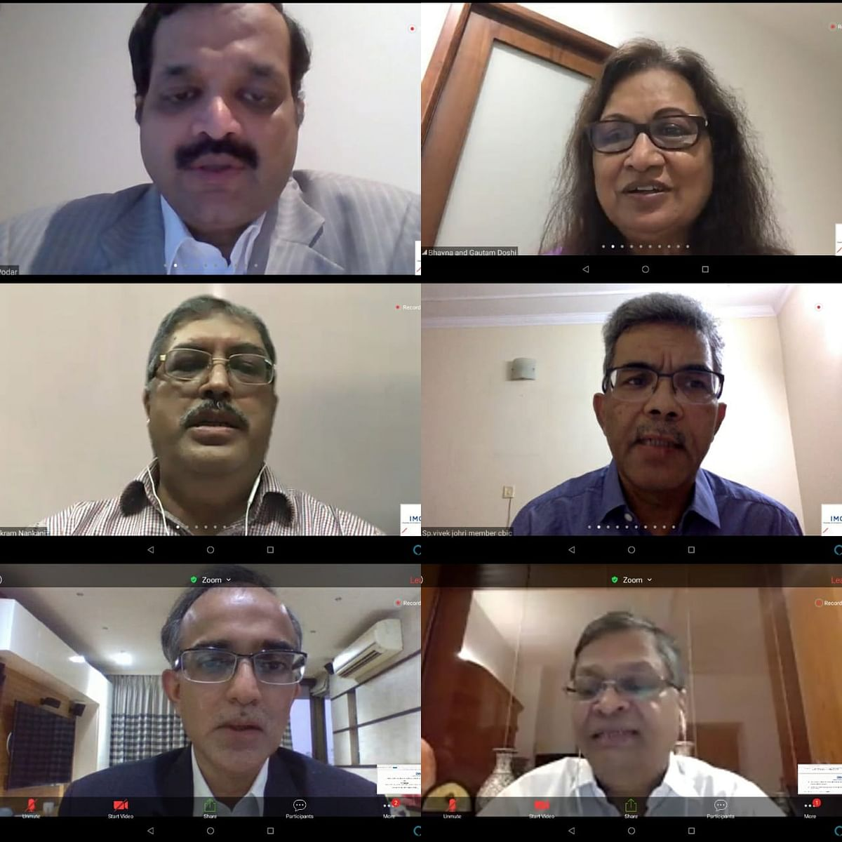 IMC Chamber of Commerce and Industry Chamber organises a webinar on GST – Recent Initiatives, Challenges and Way Forward