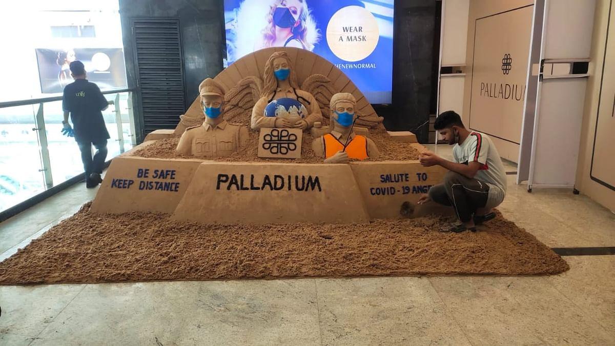 Narayan Sahu's sand installation that pays tribute to corona warriors