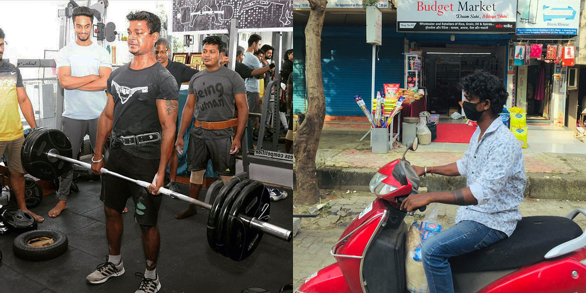FPJ Exclusive| Mira Road gym trainer works as delivery boy at grocery store to survive amid pandemic