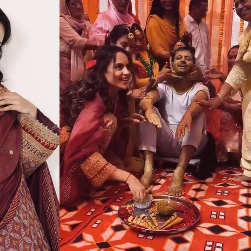 Watch: Kangana shares video of her brother Karan's Haldi ceremony at their ancestral home