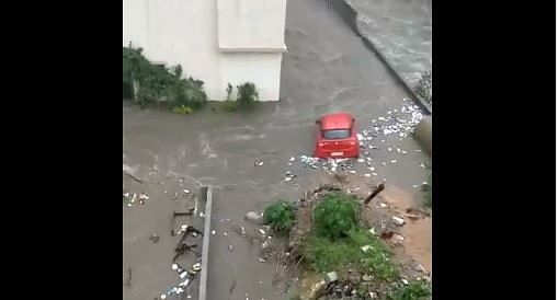 Watch: Heavy downpour triggers flash floods in Bengaluru, vehicles swept away