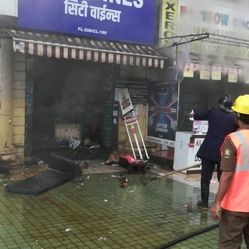 Fire breaks out at a shopping centre in Thane West