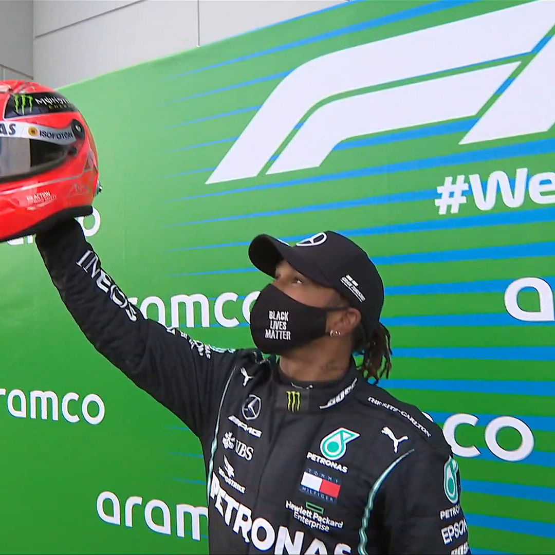 Lewis Hamilton equals Michael Schumacher's record of 91 race wins in F1