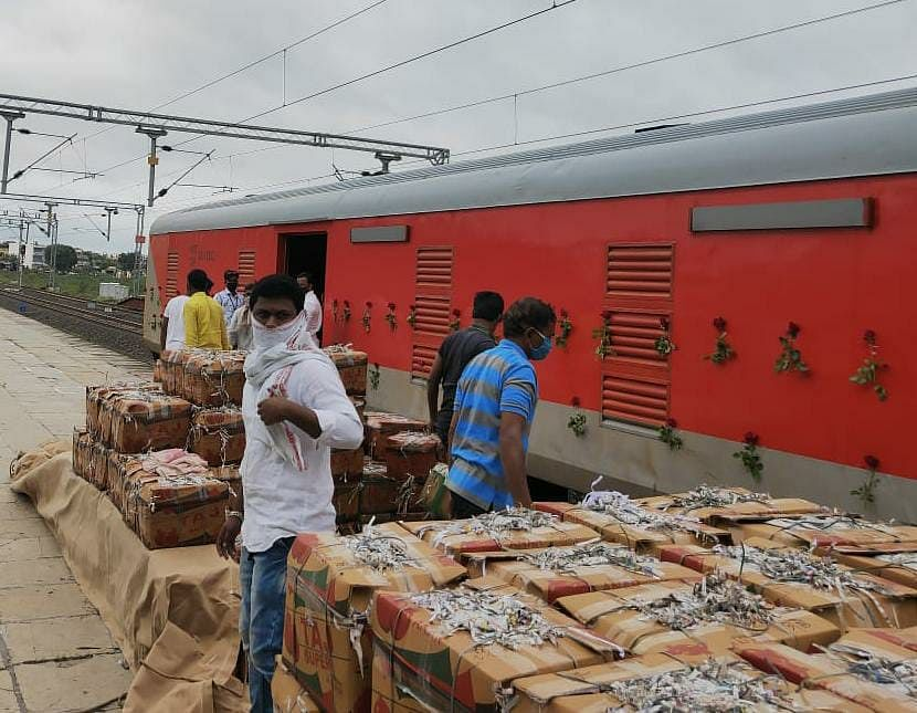 Central Railway transports 5,223 tonnes in 19 trips by Kisan Rail
