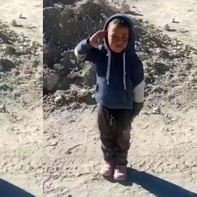 Watch: Video of kid saluting ITBP troops with 'high josh' goes viral