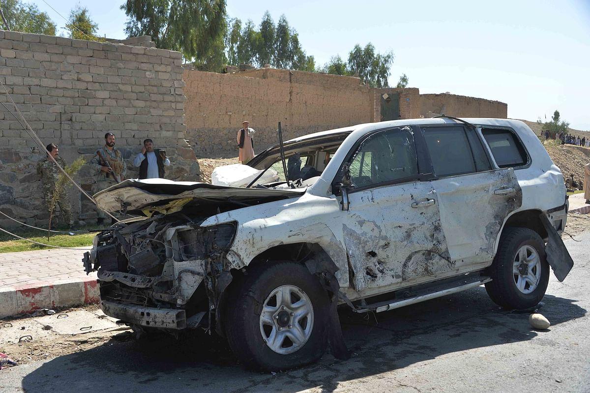 Afghan governor survives car bomb, 8 dead