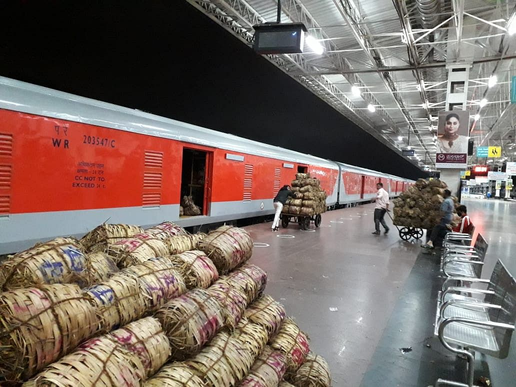 South Western Railway's KSR Bengaluru-Adarsh Nagar Kisan Rail carries 56.54 tonnes of commodities